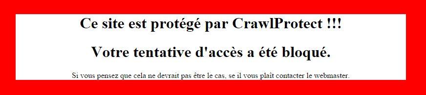Cliquez sur l'image pour la voir en taille réelle   Nom : Capture_crawlprotect.JPG?  Affichages :Non disponible  Taille :32,4 Ko  ID : 28573